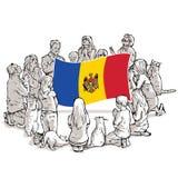 Bid voor Moldavië royalty-vrije illustratie