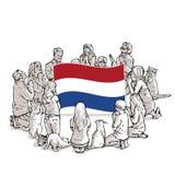 Bid voor Nederland Holland vector illustratie