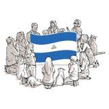 Bid voor Nicaragua vector illustratie