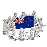 Bid voor Nieuw Zeeland stock illustratie
