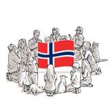 Bid voor Noorwegen stock illustratie