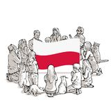 Bid voor Polen stock illustratie
