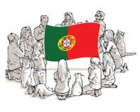 Bid voor Portugal vector illustratie