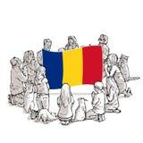 Bid voor Roemenië royalty-vrije illustratie