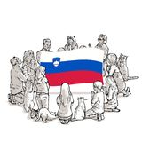 Bid voor Slovenië stock illustratie