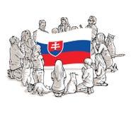 Bid voor Slowakije vector illustratie