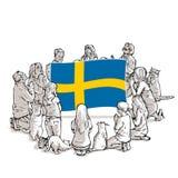 Bid voor Zweden royalty-vrije illustratie