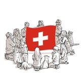 Bid voor Zwitserland vector illustratie