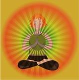Bid yogameisje royalty-vrije illustratie