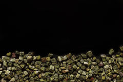 Bidasar green, Indian marble on black background Stock Photography