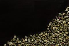 Bidasar green, Indian marble on black background Royalty Free Stock Images