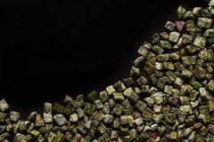Bidasar green, Indian marble on black background Stock Photo