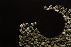 Bidasar green, Indian marble on black background Royalty Free Stock Photos