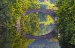 Bidasoa Fluss-Brücke, überschreiten durch Bera, Navarre Lizenzfreie Stockfotografie