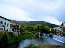 Elizondo bridge over Bidasoa royalty free stock photography