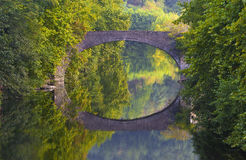 Bidasoa River Bridge, passing by Bera, Navarre Royalty Free Stock Photography