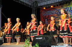 Bidayuh Women Dancers Royalty Free Stock Photos