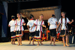 Bidayuh Girls Cultural Dance royalty free stock photography