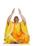 Biddende Boeddhistische monniken royalty-vrije stock afbeeldingen
