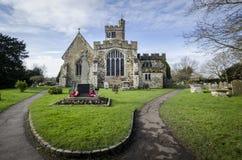 Biddenden kyrka royaltyfri bild