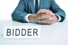 Bidder Stock Image