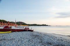 Bidderosa-Strand morgens Stockfotografie