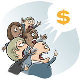 Bidding Business Cartoon Stock Photography