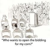 Bidding on corn Stock Photography