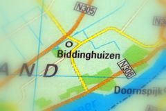 Biddinghuizen, un villaggio nei Paesi Bassi fotografia stock libera da diritti