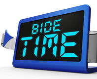 Bide Time Clock Means Wait For Opportune Moment Royalty Free Stock Photography
