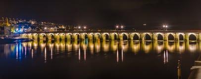 Bideford长的桥梁 免版税库存图片