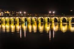Bideford长的桥梁 免版税库存照片