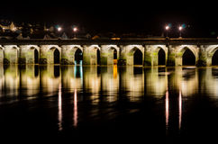 Bideford长的桥梁 库存照片