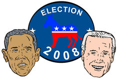 Biden and Obama Stock Images