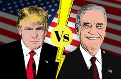 Free Biden Vs Trump, United States Presidential Election 2020, American Vote Royalty Free Stock Photos - 196072418