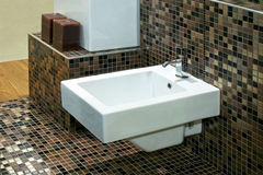 Bidet and tiles Stock Photo