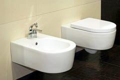 Bidet and toilet stock photos