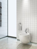 Bidet in wc Stock Photography