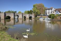 Bidford-på-Avon Warwickshire Royaltyfria Foton