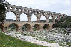 Bidge av Gard, Frankrike fotografering för bildbyråer