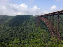 Bidge over New River Gorge WV. 3030 foot long New River Gorge Bridge near Fayetteville WV Royalty Free Stock Image