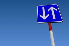 Bidirektionale Straße lizenzfreie abbildung