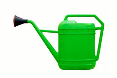 Bidon d'arrosage vert Photo stock