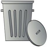 Bidon d'ordures avec le couvercle Photo libre de droits