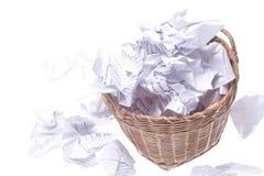 Bidon d'ordures de débordement Image stock