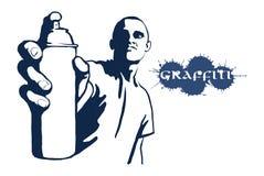 Bidon de jet de graffiti Photographie stock libre de droits