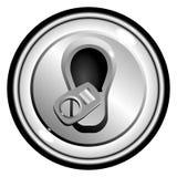 Bidon ouvert par dessus de bouton de vecteur de bière Image libre de droits