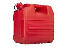 Bidon rouge de plastique Images libres de droits