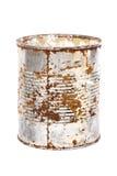 Bidon rouillé en métal Photo stock