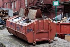 Bidone della spazzatura fotografia stock libera da diritti